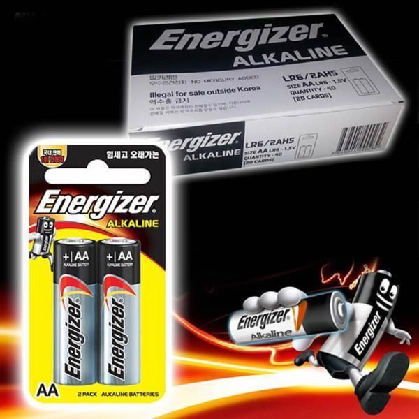 에너자이저 알카라인 AA건전지 40P 박스 LR6 밧데리 상품이미지