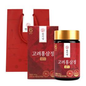 6년근 고려 홍삼정골드 240g 홍삼농축액100% 쇼핑백