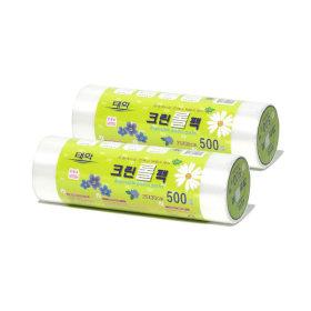 위생백비닐백봉투/ 태화 크린롤팩 (중 500매 x 2P)