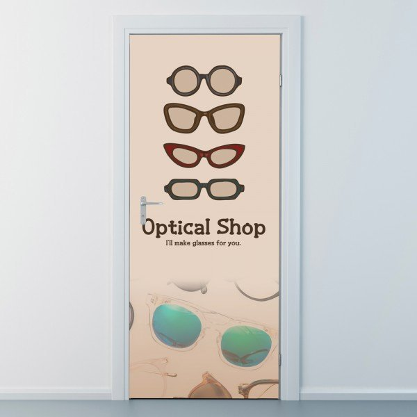nces181-클래식 안경-현관문시트지 상품이미지