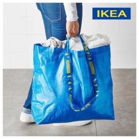 장바구니 빨래 바구니 세탁 가방 시장마트 FRAKTA 중형