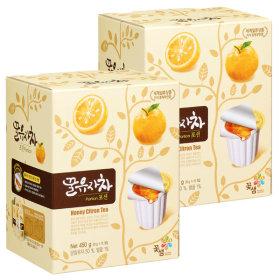 [꽃샘] 꽃샘 꿀유자차,꿀대추차,꿀생강차,꿀레몬차,꿀자몽차(포션15Tx2)