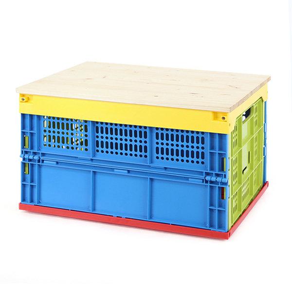접이식 폴딩박스+우드상판 대형 캠핑박스/캠핑테이블 상품이미지
