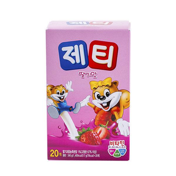 동서 제티 딸기맛 340g(17gX20T)/우유/제티 상품이미지