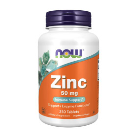 Now Foods 아연 ZINC 50 mg 250 타블렛  빠른직구