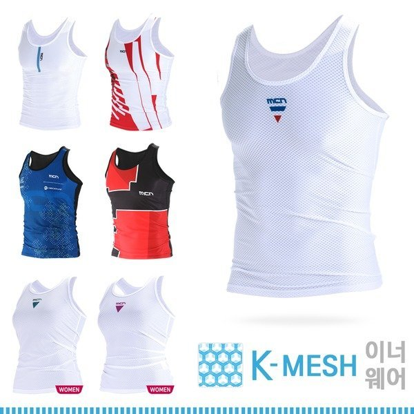 MCN 기능성 KMESH 민소매 스포츠이너웨어 모음전 상품이미지