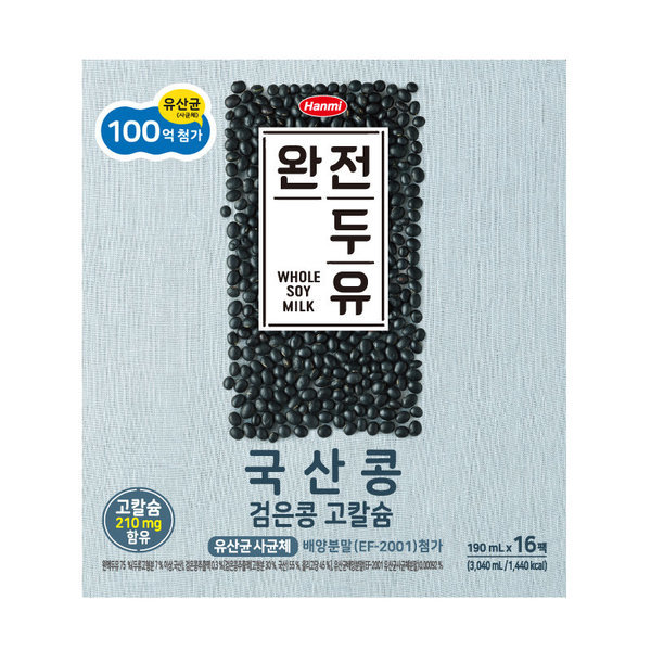 V 한미 유산균국산콩고칼슘두유 190MLx16 상품이미지