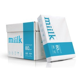밀크 A4 복사용지(A4용지) 80g 2500매(1박스)