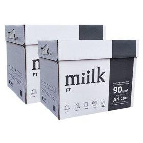 밀크 A4 복사용지(A4용지) 90g 5000매(2박스)