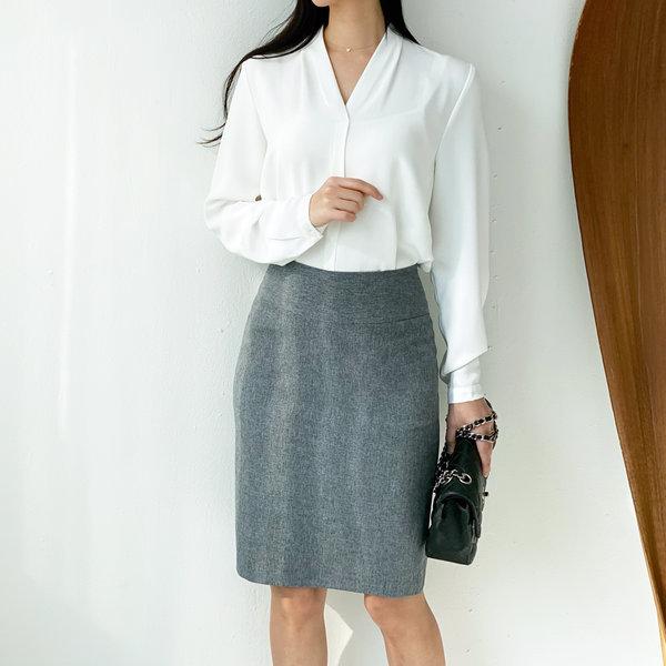 라인이예쁜 베이직 H라인스커트 여성의류 유니폼 치마 상품이미지