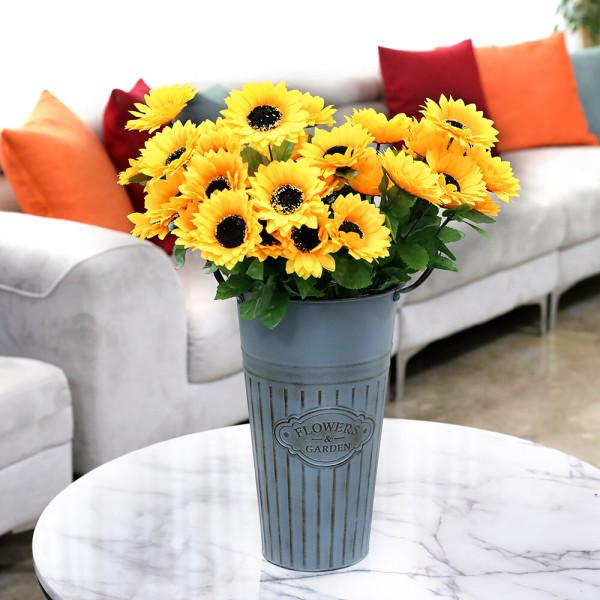 12송이 해바라기 부쉬ㅣ 조화부쉬 성묘꽃 꽃다발 3+1 상품이미지