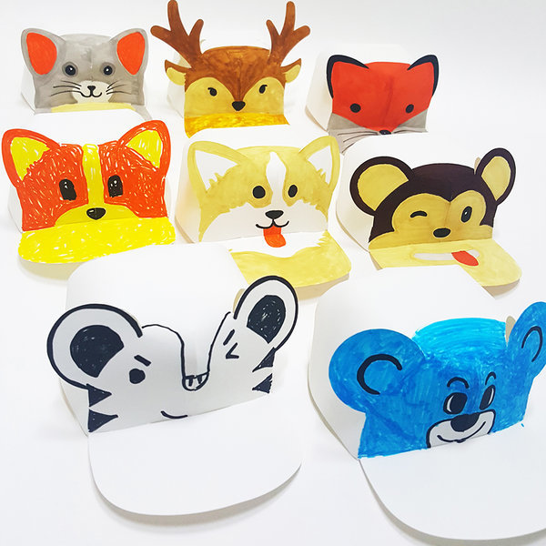 드로잉캡 동물모자만들기 10개 뾰족귀 둥근귀 사슴귀 상품이미지