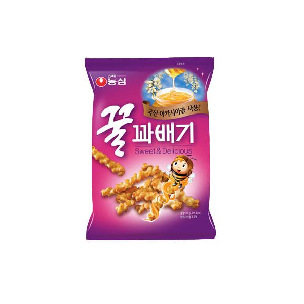 (현대Hmall) 농심  꿀꽈배기 90g x 20봉/무료배송 상품이미지