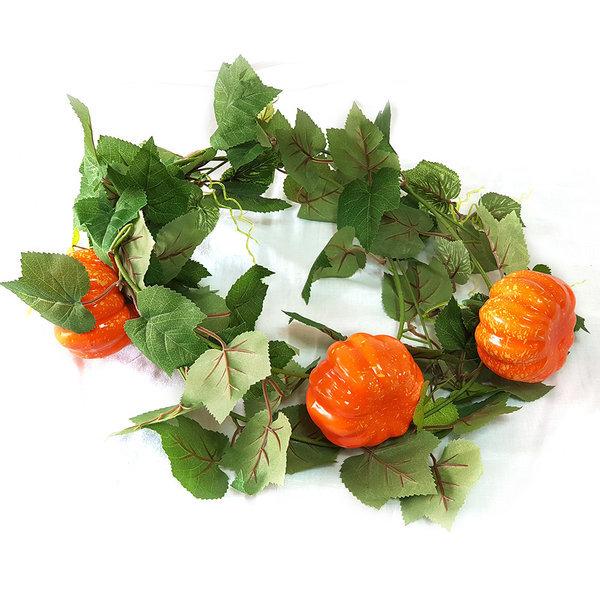고급 단호박넝쿨 오렌지 조화 조화장식 인테리어장식 상품이미지