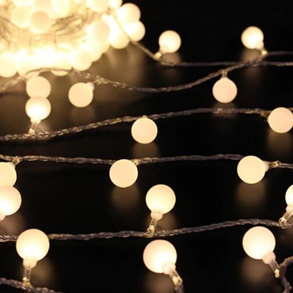 100구 투명선 LED 적색전구(8M) (전원잭별매) (연결 상품이미지