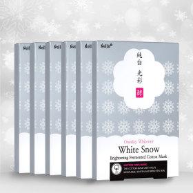 하얀눈 미백 마스크팩30매 화이트닝마스크 +클렌징폼50