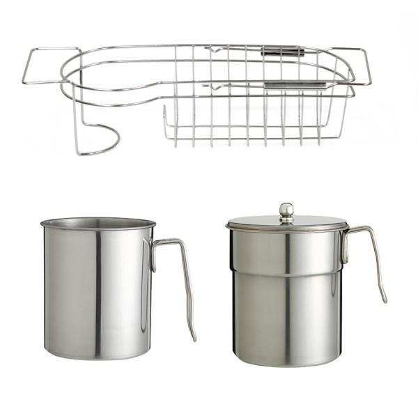 스텐 음식물쓰레기통 풀세트 수세미걸이 음식물처리기 상품이미지