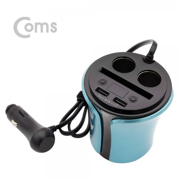 WK363 차량용 멀티 시거잭 충전기 전압체크 컵홀더 상품이미지