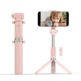 스마트폰 무선 셀카봉 삼각대 욜로 WT300 베이비핑크