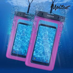 1+1 로즈핑크 핸드폰 휴대폰 방수팩 레릭 핑크+핑크