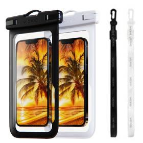 1+1 IPX-8등급 핸드폰 방수팩 P1 화이트+블랙 휴대폰