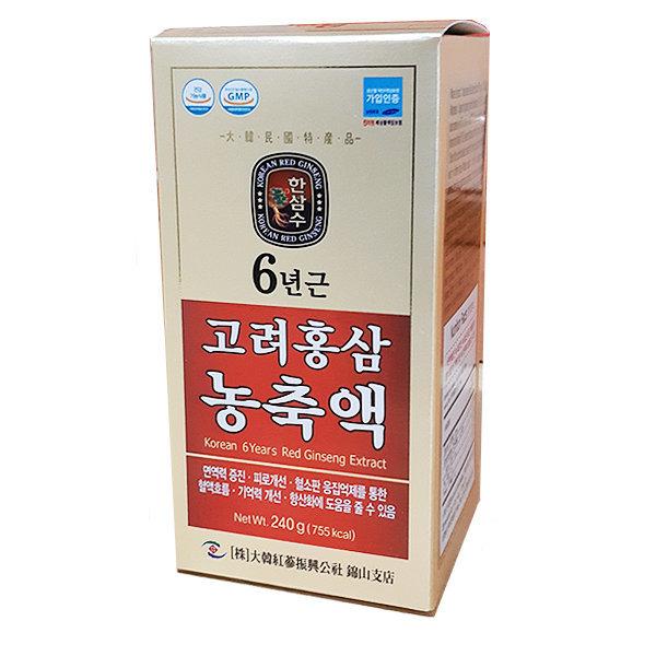 대한홍삼진흥공사 고려6년근 홍삼농축액 100% 240g 상품이미지