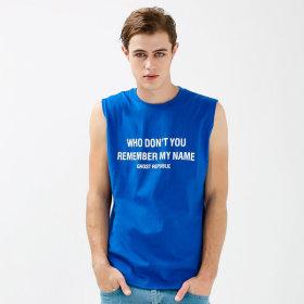 남자 프린트 민소매 티셔츠 / 빅사이즈 나시 GN-3N02