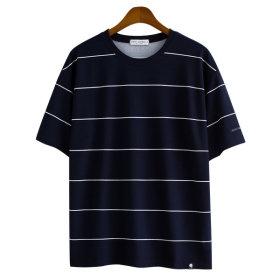 Stripe/Short-Sleeve Tee/Overfit/GT-3145
