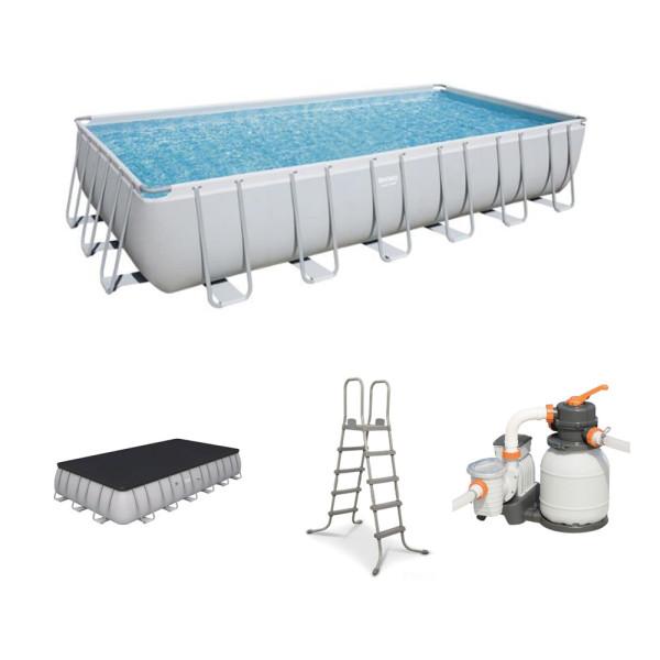 고급형 파이프사각 수영장(732x366x132cm)사각 풀장 상품이미지