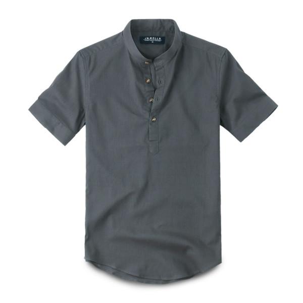 반팔 린넨 헨리넥 셔츠 남방 196. 남자셔츠 남자남방 상품이미지