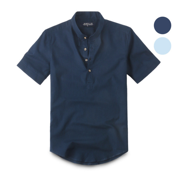 반팔 린넨 헨리넥 셔츠 남방 192. 남자셔츠 남자남방 상품이미지