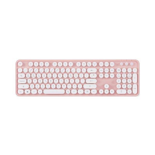 레트로 무선 키보드 KBD-48 (핑크) 타자기 디자인 상품이미지