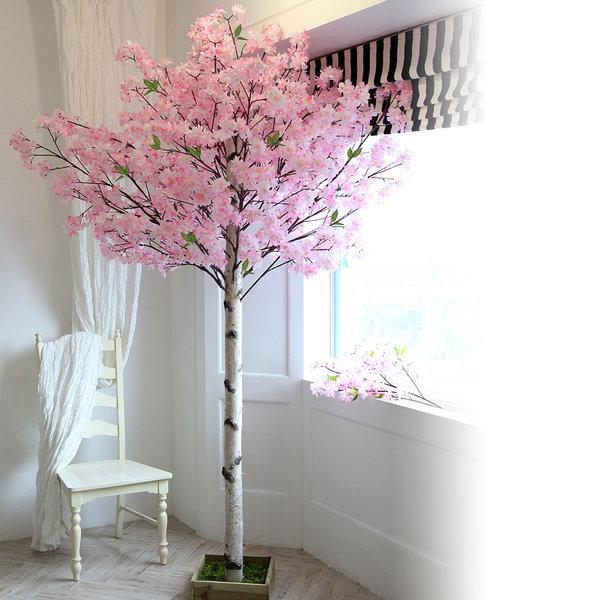 인조나무 조화나무 실내조경 구름벚꽃나무 사방형 상품이미지