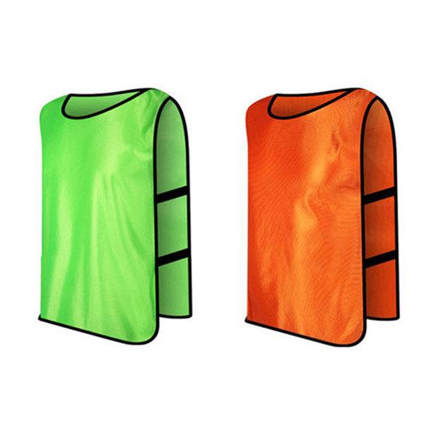 지아이엘  축구훈련복 단체조끼 소형 그린/오렌지 상품이미지