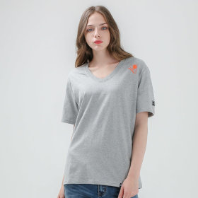 Men/Short-Sleeve Tee/Big Size/V-NECK TYPED SHIRTS/T-Shirts/GT-373