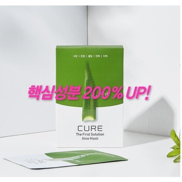 김정문알로에 큐어 솔루션 알로에 마스크팩 10매 상품이미지