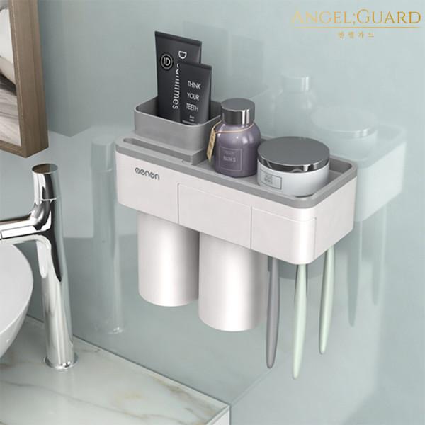 욕실선반 칫솔꽂이 거치대 (menen자석칫솔걸이 2구) 상품이미지