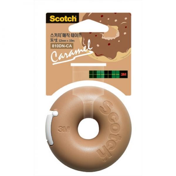 3M)매직테이프 도넛(카라멜/12mmx10m)-갑(12개입) 상품이미지