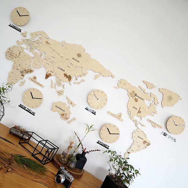 실크로드 세계지도 벽시계(대)/지도시계/세계지도 상품이미지