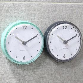 방수시계미니시계욕실시계 흡착 방수 미니시계 1+1
