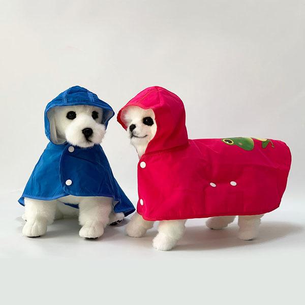 대구백화점 II관   유앤펫 강아지 우비 비옷 파핑파핑 레인코트(애견 비옷 우산 야외배변) 상품이미지