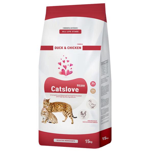 캣츠러브 오리와치킨 15kg 고양이사료 (특가) 상품이미지