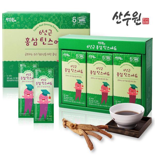 홍삼진액 6년근청소년홍삼 천연벌꿀첨가 1박스(30팩) 상품이미지