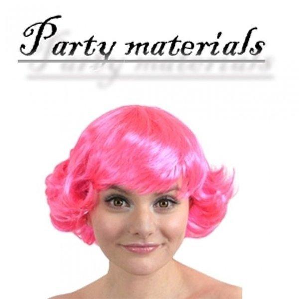 코스프레 바람머리 가발-핑크  패션잡화 패션가발 가 상품이미지