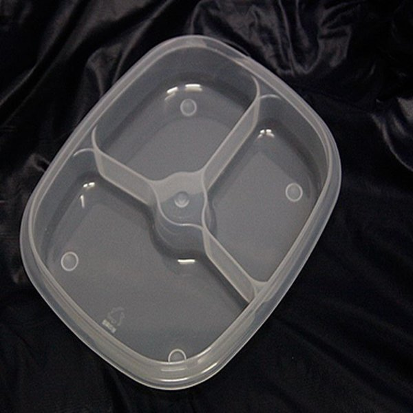 한진밀페찬합-PP사각3칸형(미니) 주방용품 식당 업소 상품이미지