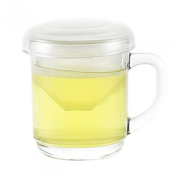 럭키글라스 필터컵 300ml 뚜껑머그잔 필터머그컵 유리 상품이미지