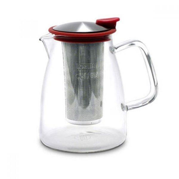 글라스 커피 메이커 (레드) 1045ml 주전자 유리티포 상품이미지