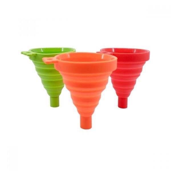 파미레 실리콘접이식깔대기(색상랜덤) 실리콘깔대기 상품이미지