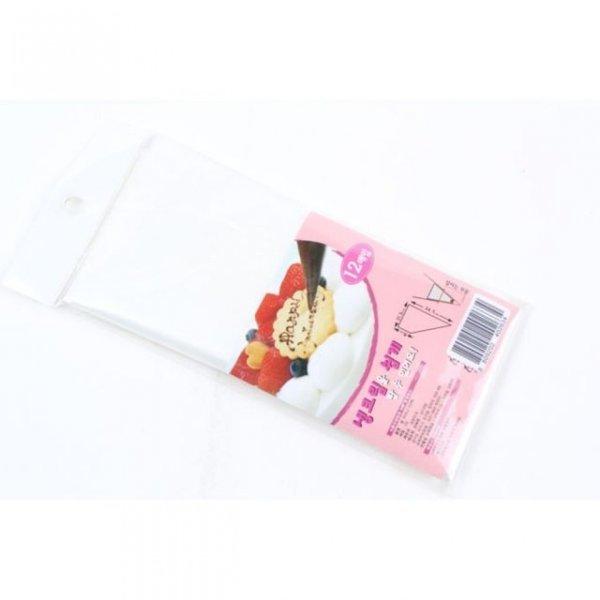 비닐 짤 주머니 12매 짤주머니 생크림 쿠키반죽 쿠키 상품이미지