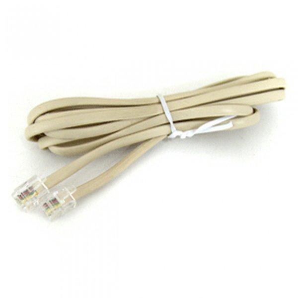 TEL CABLE 10M (6P4C) - 검정 / 흰색 / 케이블(USB/LA 상품이미지